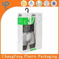 Fashion plastic storage box with handle for men's underwear