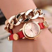 2014 New Vogue Women Leather Wholesale Watches USA Ladies Vintage Watches