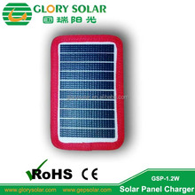 Custom Design ETFE 1.2W 5V Solar Panel For Jacket Mobile Phone Power Bank Small Solar Panel With Power Bank