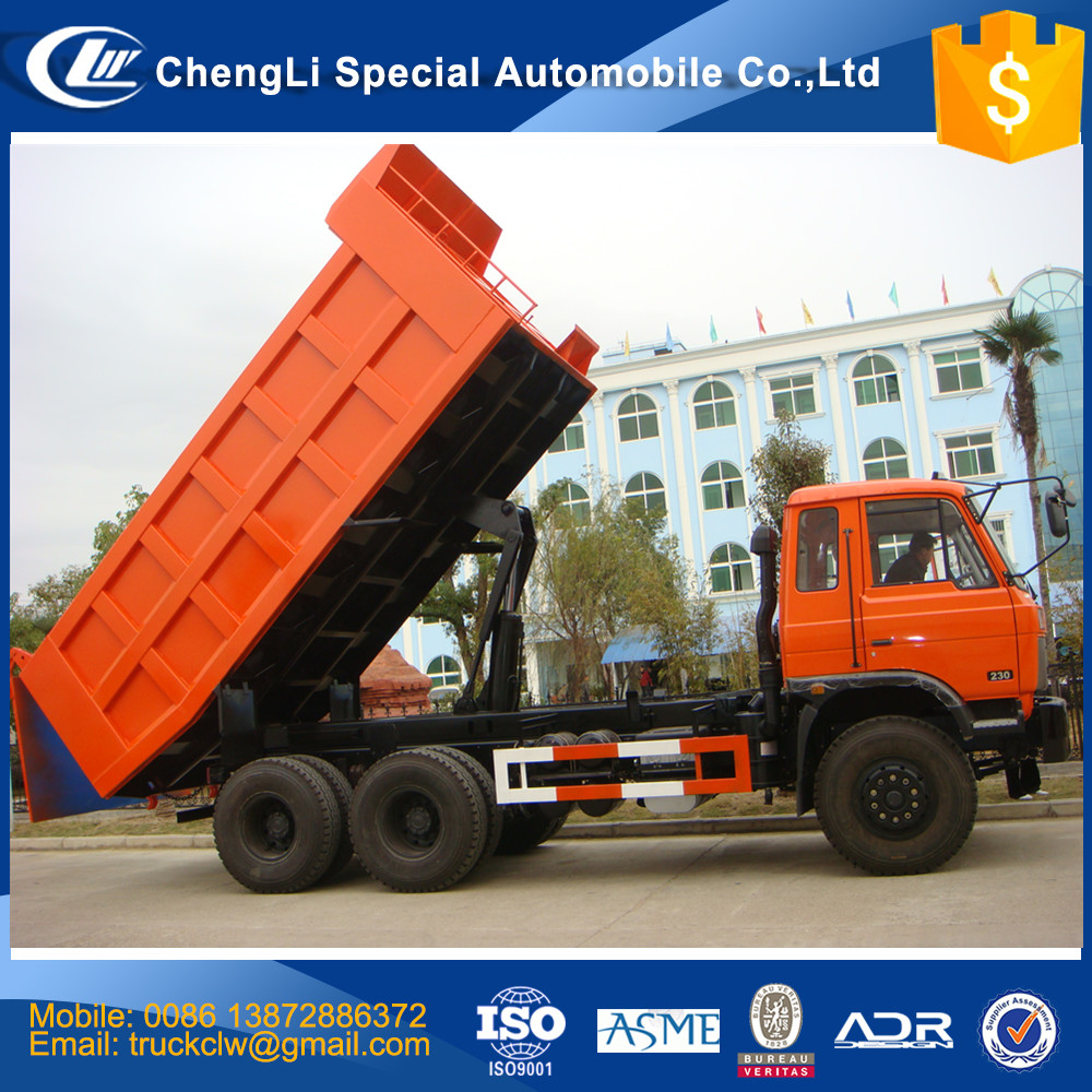 CLW Dongfeng 6x4 Tipper truck 20-40 tons Heavy loading capacity 10 tires 20cbm Volume sand stone mining dump truck LHD RHD cheap
