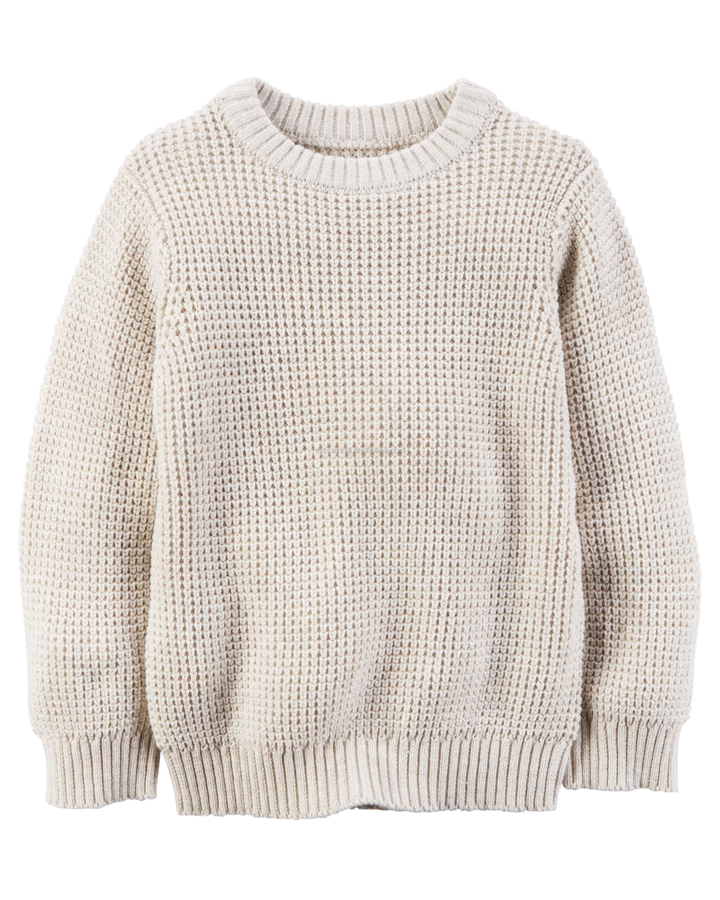 Kid Boy Sweater O-neck Knitting Long Sleeve 100% Cotton European Casual Style
