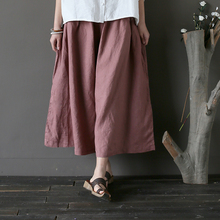 Cheap Casual linen Summer Ladies Pants Manufacture From China