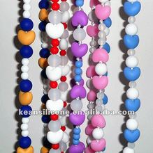 Soft Baby Chewable Necklace Fashion Cord Beads Jewellery Silicone baby Teething Necklace
