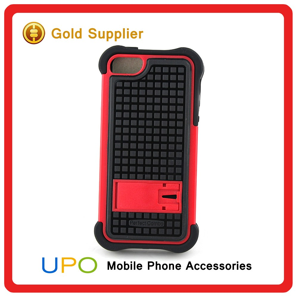 [UPO] Wholesale Hybrid Shockproof Combo Cell Phone Case for iPhone 5s with Kickstand