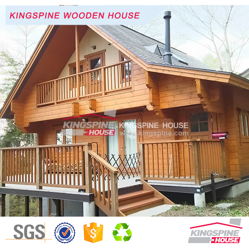 Prefabricated 2-floor 3-bedroom Wooden home Japanese style Log House KPL-073