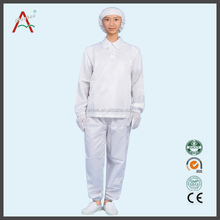 esd cleanroom antistatic coverall for worker cleanroom garment with hood