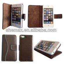 For iPhone 5 Retro Wallet book Case