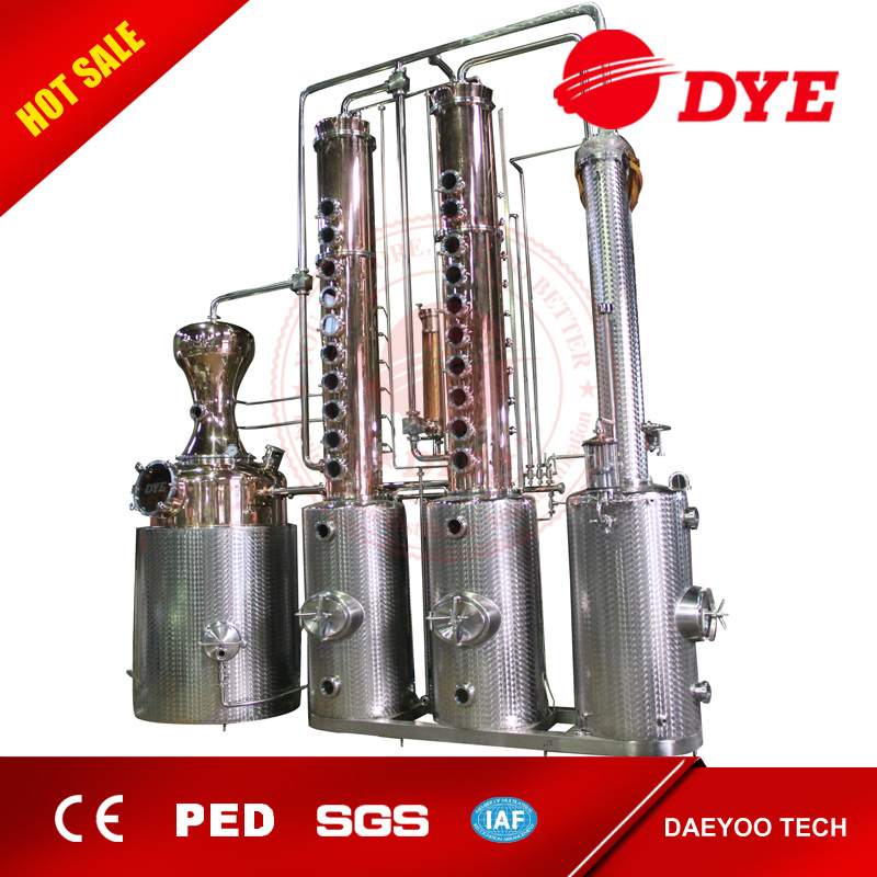 1000L Red Copper Distillation Equipment Making Palm Red Wine