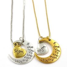 Stainless Steel Jewelry Wholesale Jewelry I Love You To The Moon And Back Pendant Necklace