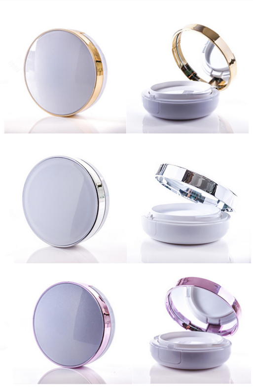 Makeup packaging plastic 15g / 15ml gold air cushion BB/CC cream case with mirror Korea cosmetic case