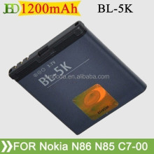 for Nokia battery high quality and hot selling 1200mAh BL-5K BL5K Battery For Nokia C7-00 X7-00 701 Batterij Bateria