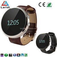 Hot new bluetooth3.0 and leather smartwatch D360 wrist watch smart watch for android&IOS