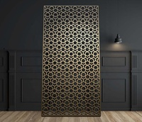 Customized Modern Interior Decoration Laser Cut Metal Screen Room Divider For Sale