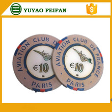 10g ceramic poker chips with custom design and logo