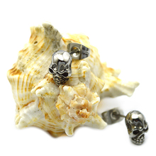 Wholesale daily wear simple designs skull stud stainless steel earring for party