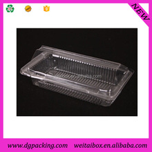 long rectangular Clamshell Clear transparent plastic cake box