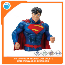Custom Design Monogram Superman Action Figure Bust Bank