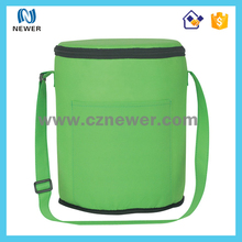 Cute stylish hot sale eco colorful cylinder insulated single shoulder cooler bag