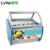 LVNI highly recommended stainless steel display ice cream freezer for hotel