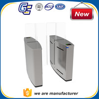 Access control system with high-tech stainless steel security door sliding turnstile