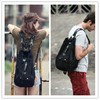940 Retro Black Canvas Backpack for Girls Backpack Side Release Buckle