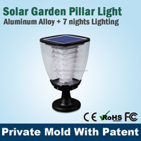 Clear Plastic waterproof Led Solar Power Garden Lamps