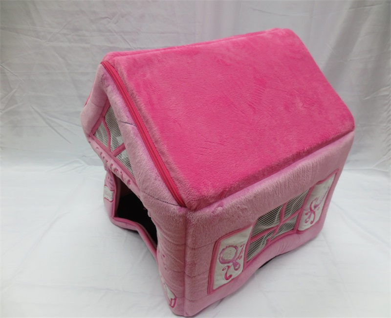 Popular and fashion Cozy warm pink pet house