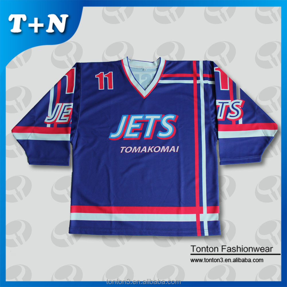 dye sublimation wholesale blank custom reversible ice hockey jersey