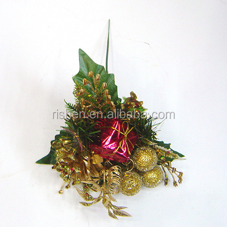 hot sell native christmas decor gold decorative glitter floral picks