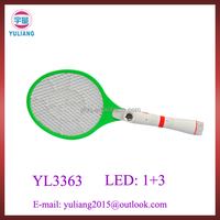 China factory newest LED light rechargeable mosquito swatter racket
