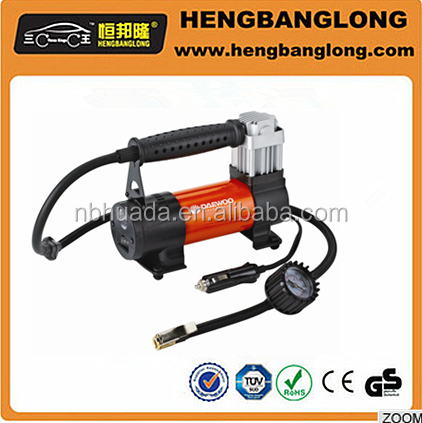 car pump air compressor /new style car air pump Car air compressor inflatable tire with Led light