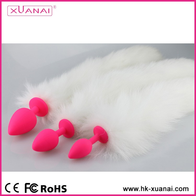 Women Cosplay Adult Silicone Anal Raccoon Fox Tail G-spot Butt Plugs For Men Sex SM Products