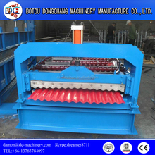 Corrugated Roof Tile Making Machine/PPGI Coil Metal Automatic Roof Corrugated Sheet Roller Forming Machine