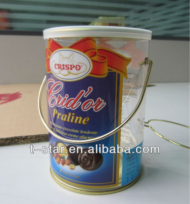 decorative tin bucket/small metal tin buckets