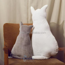 new designs fleece cat animal pet shaped cushion pillow