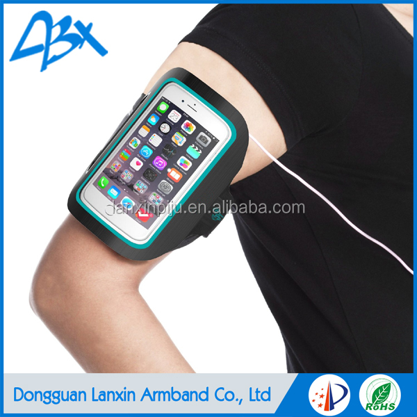 Top quality orange elastic durable super slim running sports armband for samsung galaxy a3 waterproof case and iphone SE