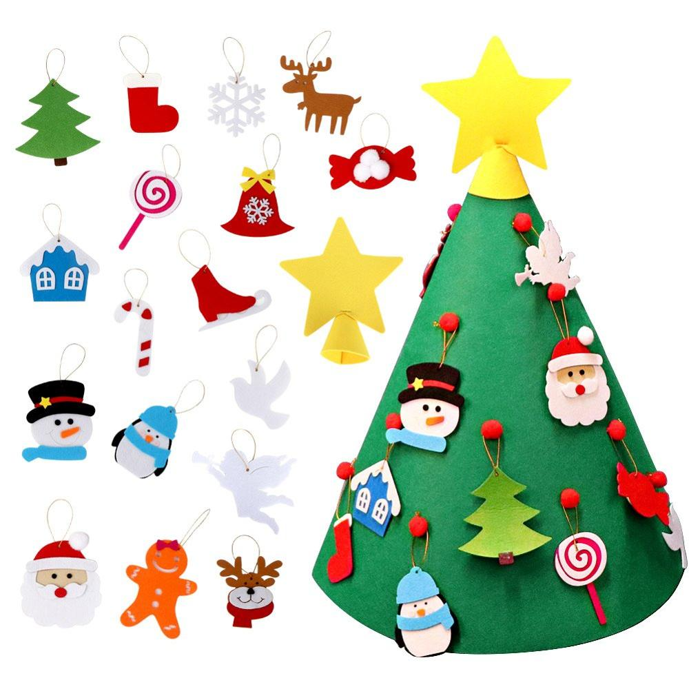 Meilun 3D DIY Felt Christmas Tree with Hanging Ornaments, Xmas Gifts for Kids Christmas <strong>Decorations</strong>