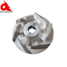 high quality small OEM cast iron water pump impeller