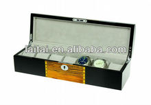 2013 Hot Zebra-stripe wooden watch box TG807-7ZS/BG