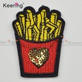 Fashion embroidery french fries Small Iron On Patch WEFB-022