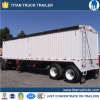 TRI AXLED TRAILER FOR TRANSPORTING WHEAT IN Bulk Wheat Trailer