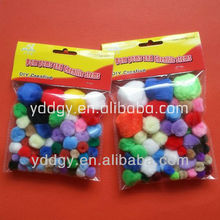 factory supply colorful cute acrylic pom poms for toys