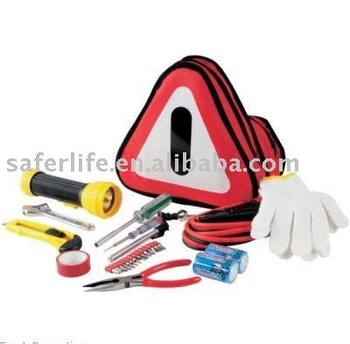 practical family car travel using auto safety emergency kit