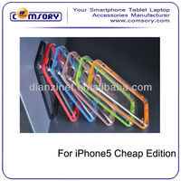 Newest color bumper phone case with dust plug for iphone 5 cheap edition 5C Paypal Acceptable
