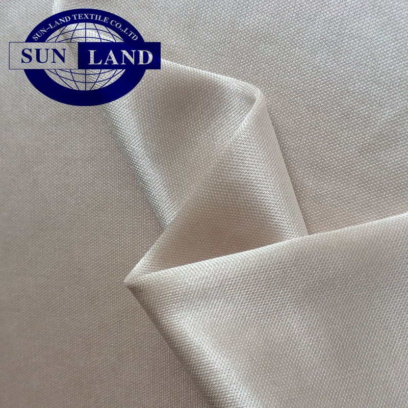 Silk feeling dress lining FDY polyester shining weft knitting interlock fabric