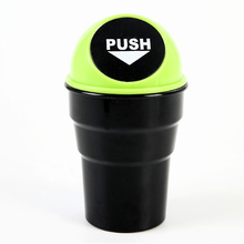Mini Home Office Auto Car Vehicle Garbage Can Vehicle Car Plastic Trash Rubbish Bin Can