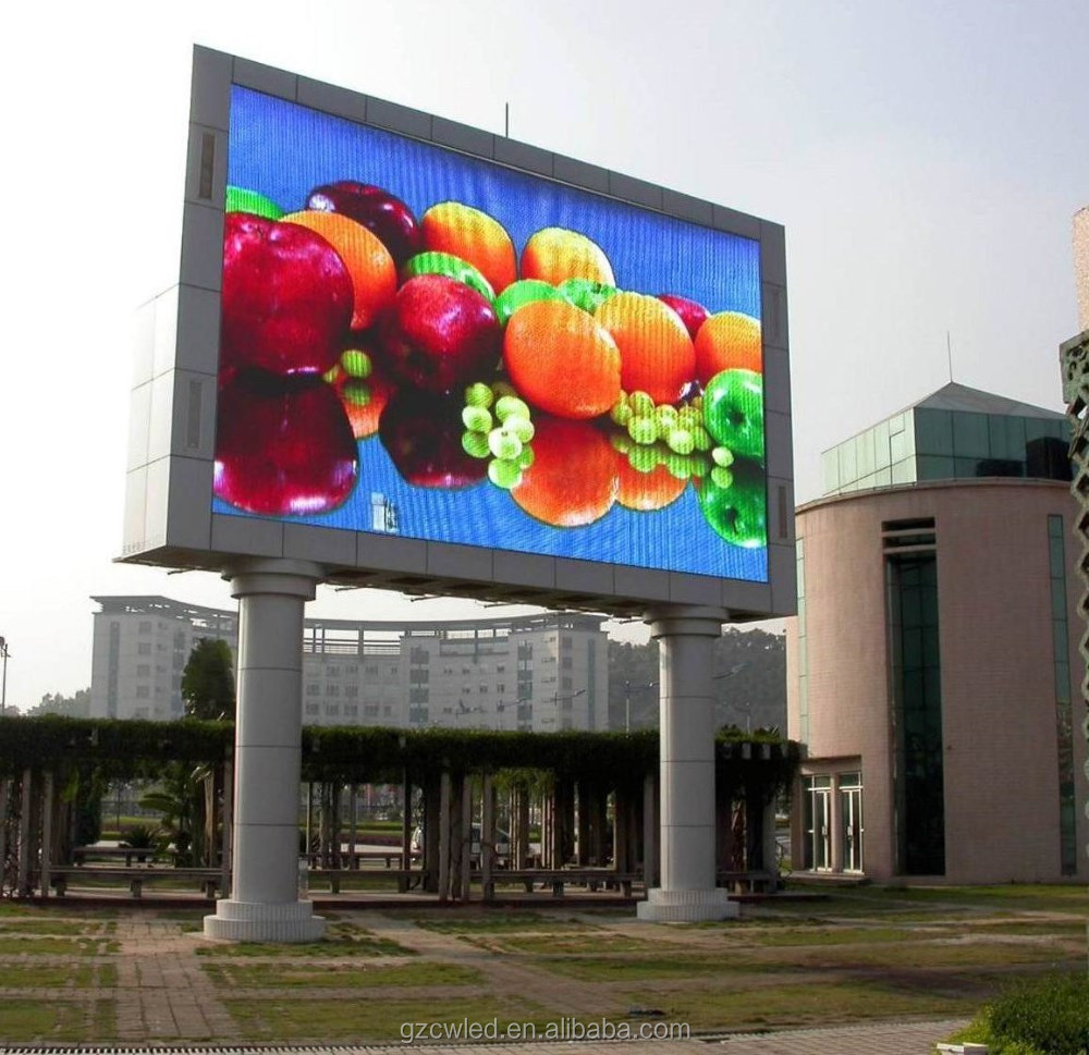Good quality advertising wall led screen 960*960mm cabinet p8 outdoor full color led display