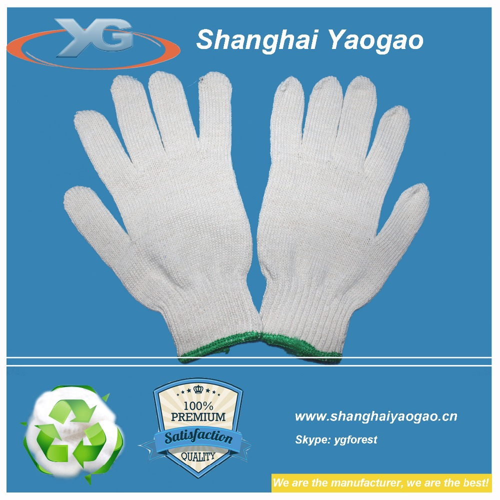 raw cotton working gloves safety china manufacturers