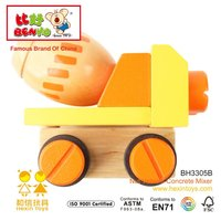 Wooden Vehicle Toys Tow Truck raw cashed nut