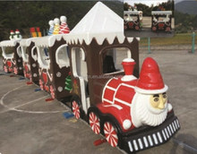 amusement ride electric outdoor lighted christmas train